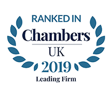 Ranked in Chambers UK 2019 Leading Firm