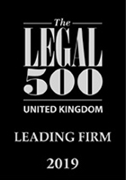 The Legal 500 United Kingdom - Leading Firm 2019