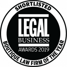 Fox & Partners shortlisted for Boutique Firm of the Year by Legal Business Awards