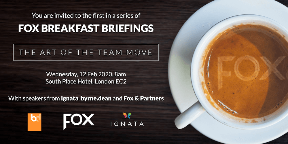 Fox Launches Breakfast Briefing Series with 'The Art of the Team Move'